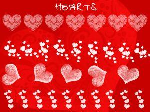 Heart Photoshop Brush Templates